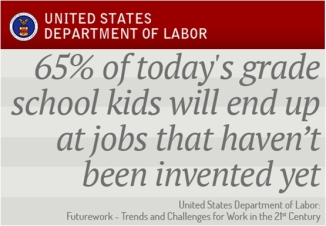 Our children will have a higher likelihood of working at a job that has not been invented yet